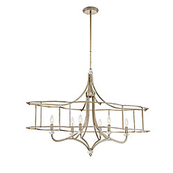 Palmisano Collection, 6-Light Oval Silver Chandelier