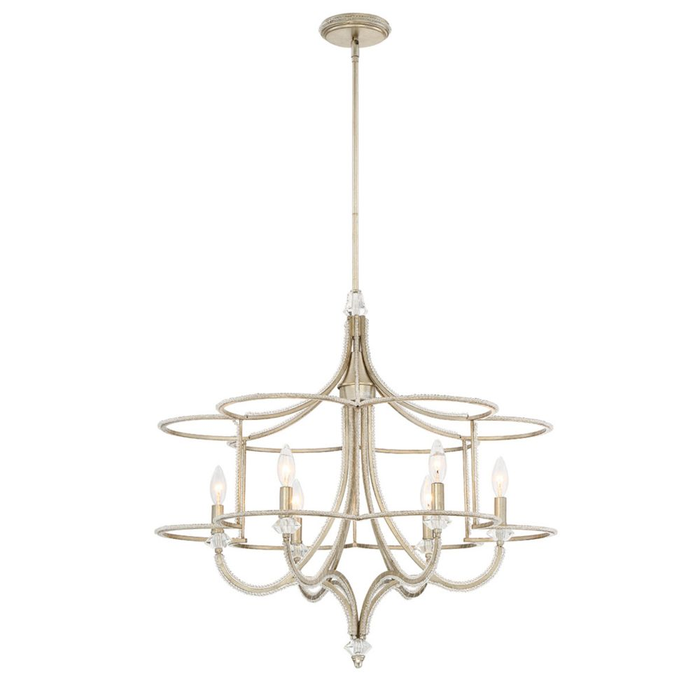 Palmisano Collection, 6-Light Silver Chandelier