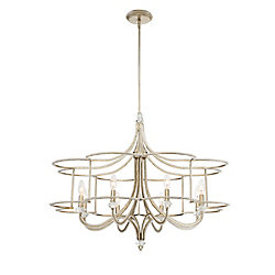 Palmisano Collection, 8-Light Silver Chandelier