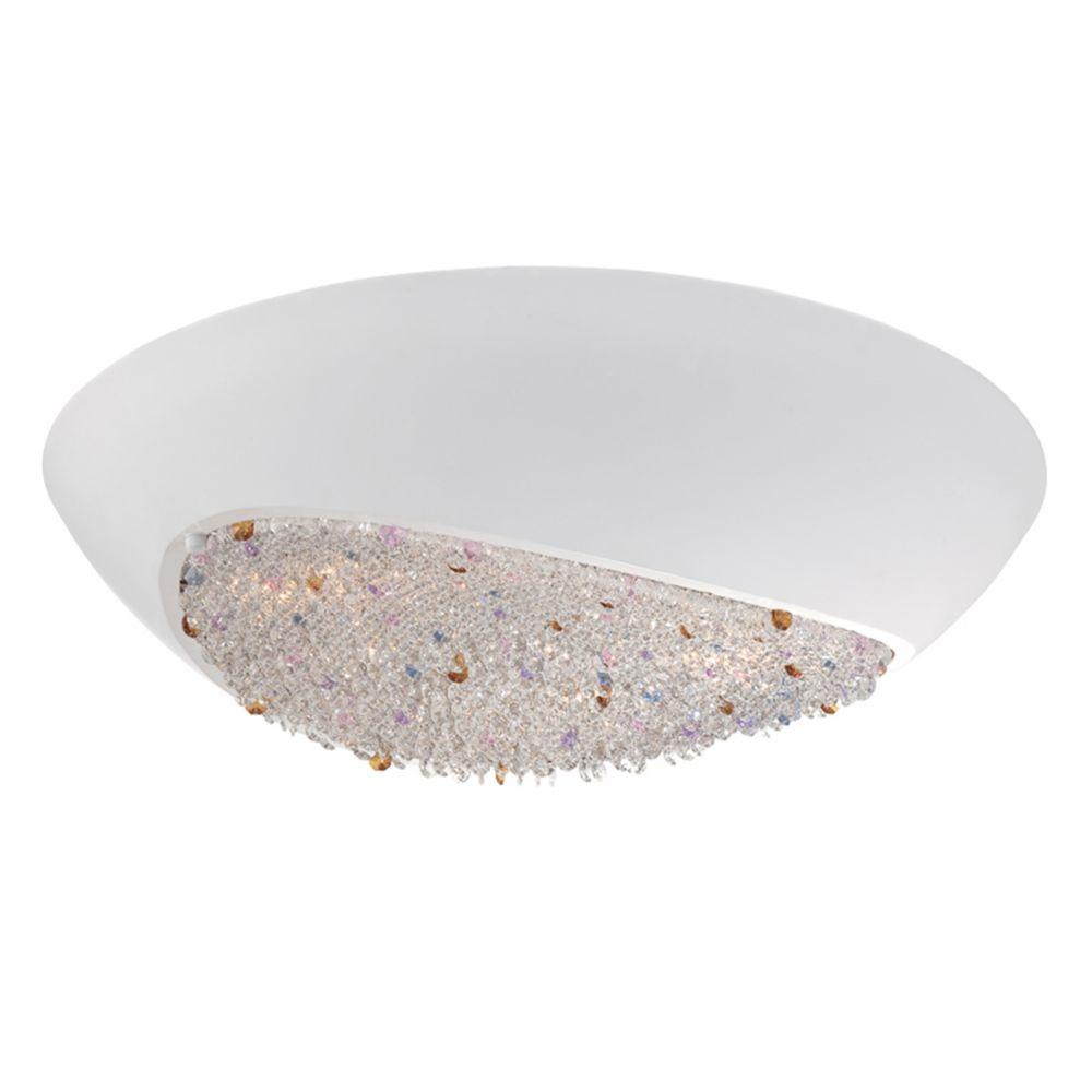 Karina Collection, 6-Light White Flushmount