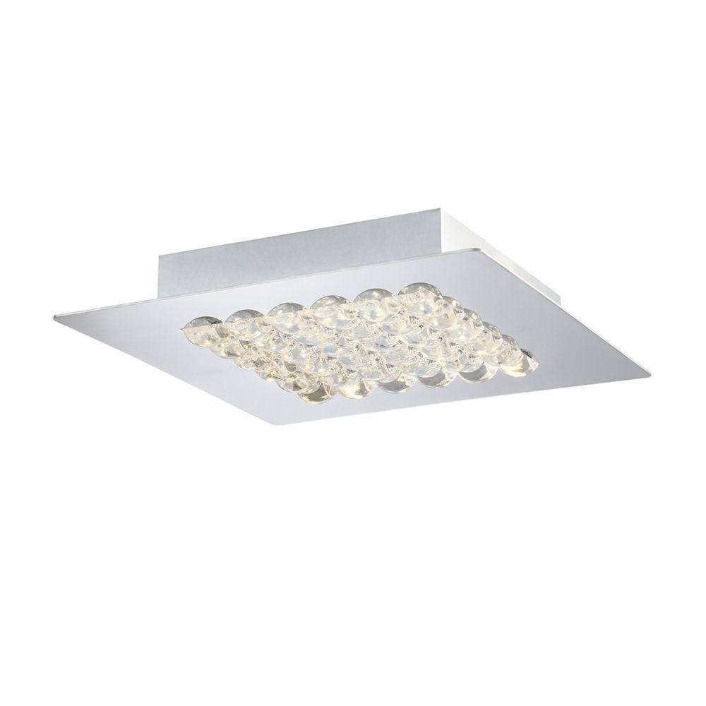 Collection Denso, luminaire moyen à montage en surface chrome à 1ampoule DEL