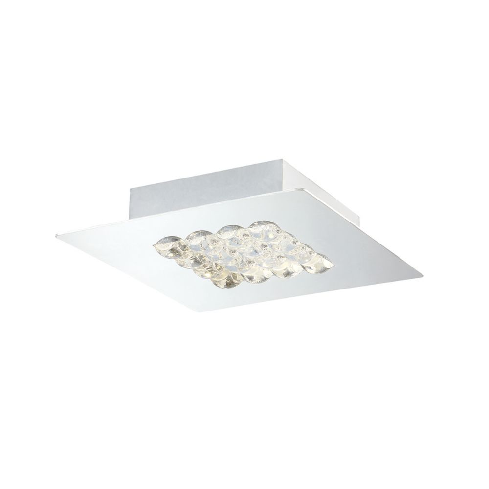 Collection Denso, petit luminaire à montage en surface chrome à 1ampoule DEL