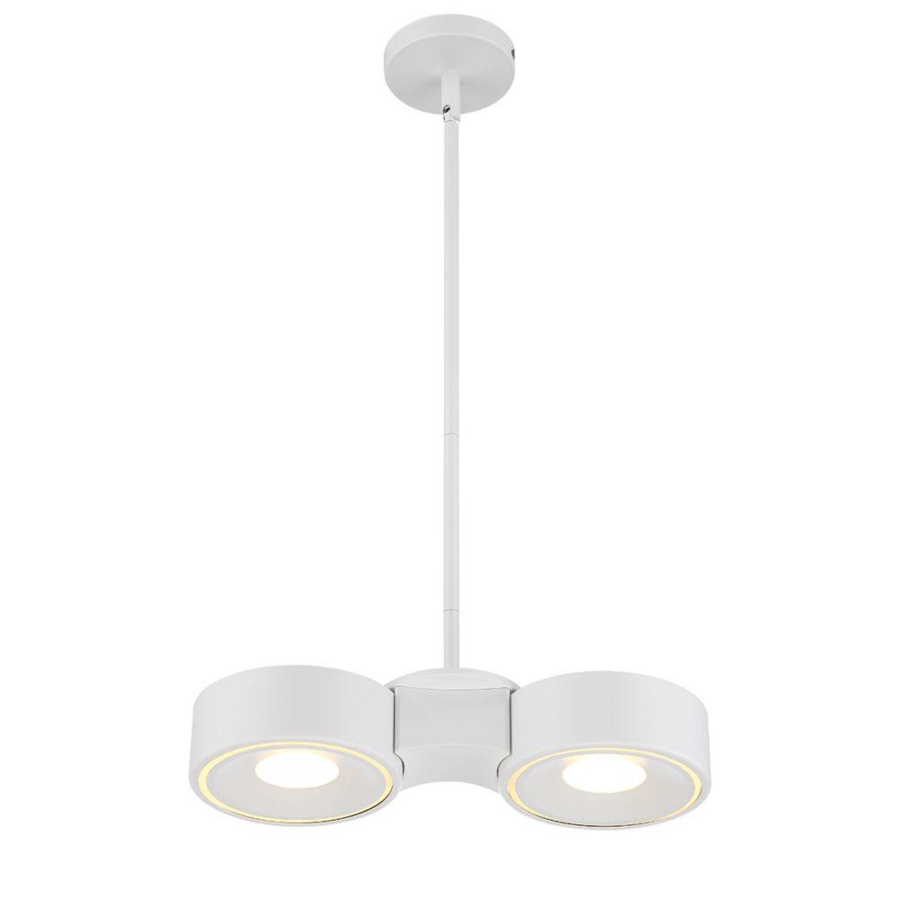 Collection Stavro, luminaire blanc à montage en surface à 2ampoules DEL