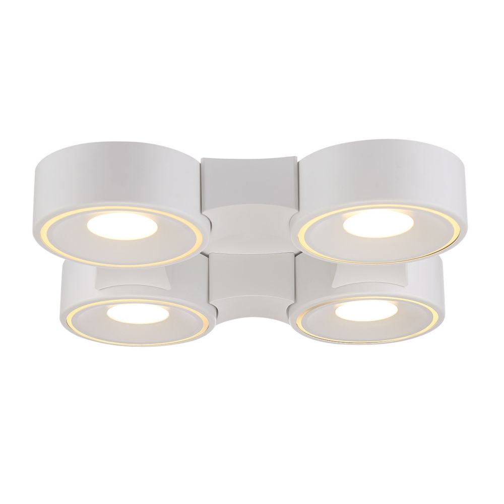 Stavro Collection, 4-Light Square LED White Surface Mount