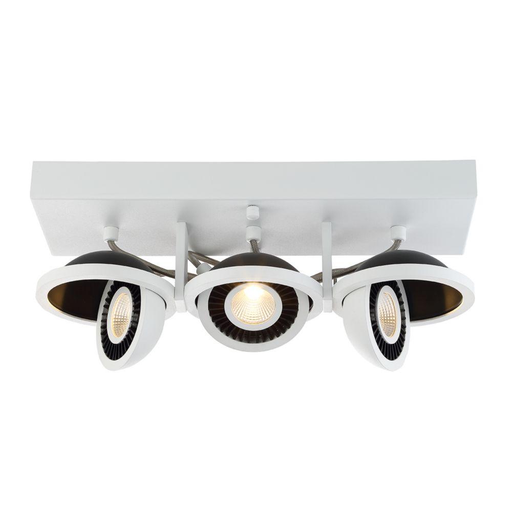 Collection Vision, luminaire blanc à montage en surface à 3ampoules DEL