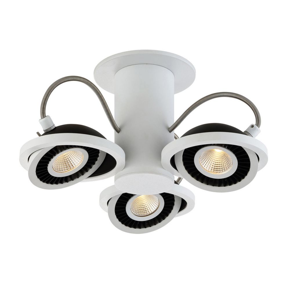 Vision Collection, 3-Light LED White Surface Mount