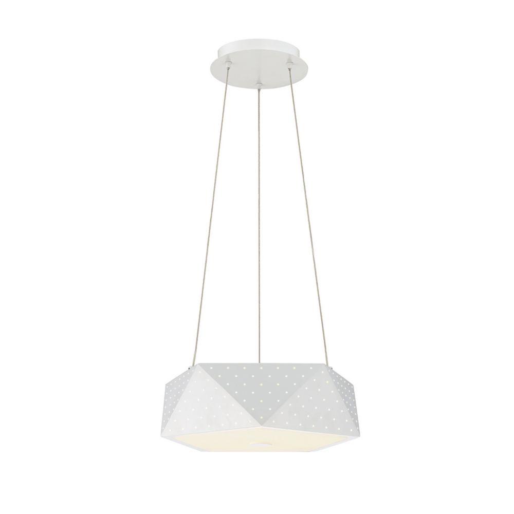 Collection Acuto, luminaire suspendu blanc à 4ampoules DEL