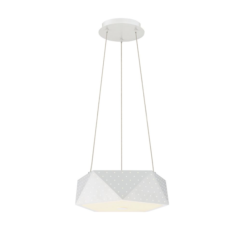 Eurofase Acuto Collection, 4-Light LED White Pendant