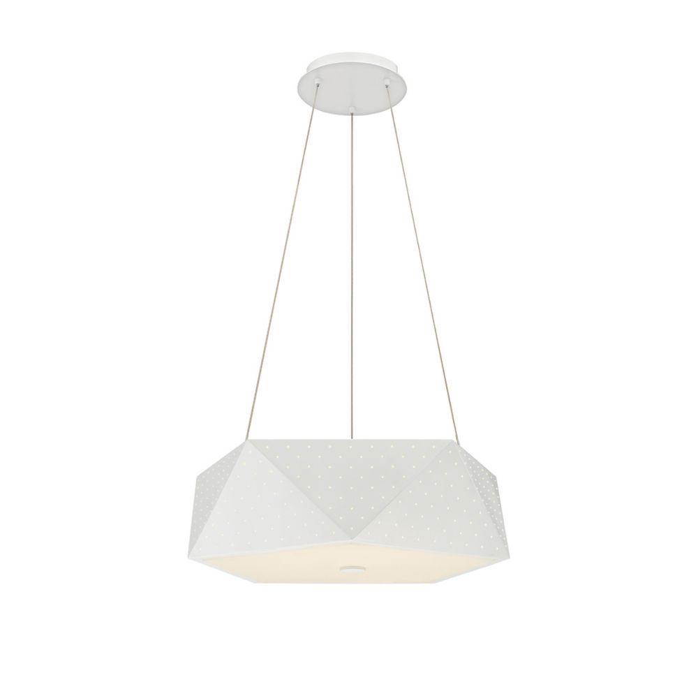 Collection Acuto, luminaire suspendu blanc à 6ampoules DEL