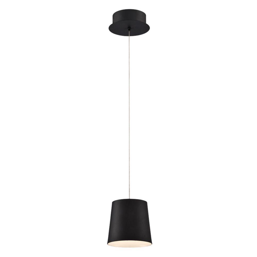 Collection Borto, luminaire suspendu noir à 1ampoule DEL
