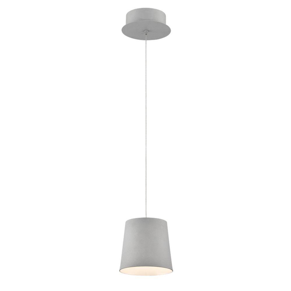 Collection Borto, luminaire suspendu gris à 1ampoule DEL