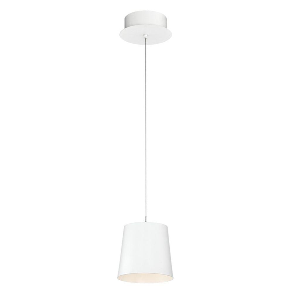 Collection Borto, luminaire suspendu blanc à 1ampoule DEL