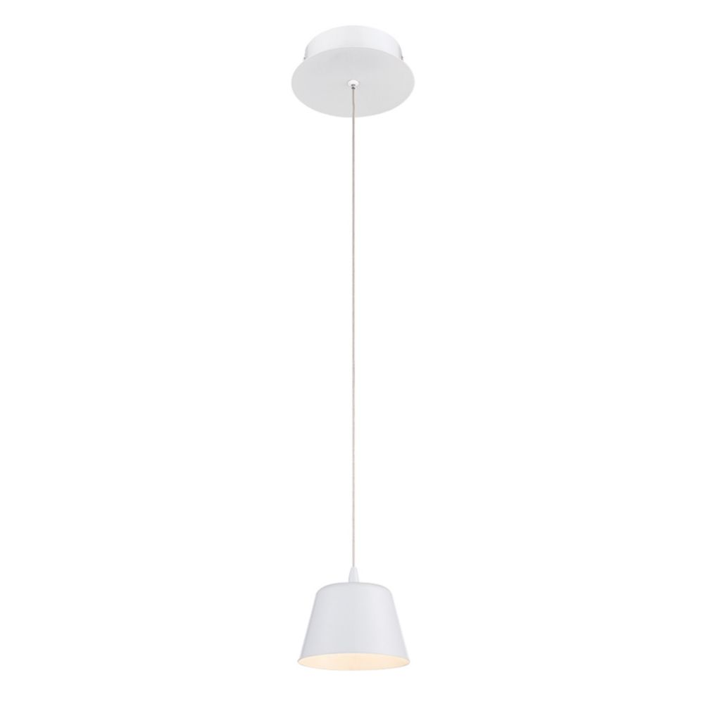 Collection Bowes, luminaire suspendu blanc à 1 ampoule DEL