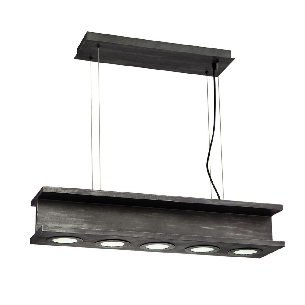 Fascio Collection, 5-Light LED Black Pendant