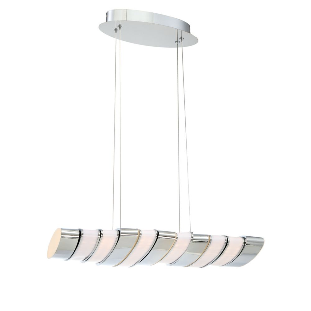 Gabriel Collection, 11-Light LED Chrome Pendant