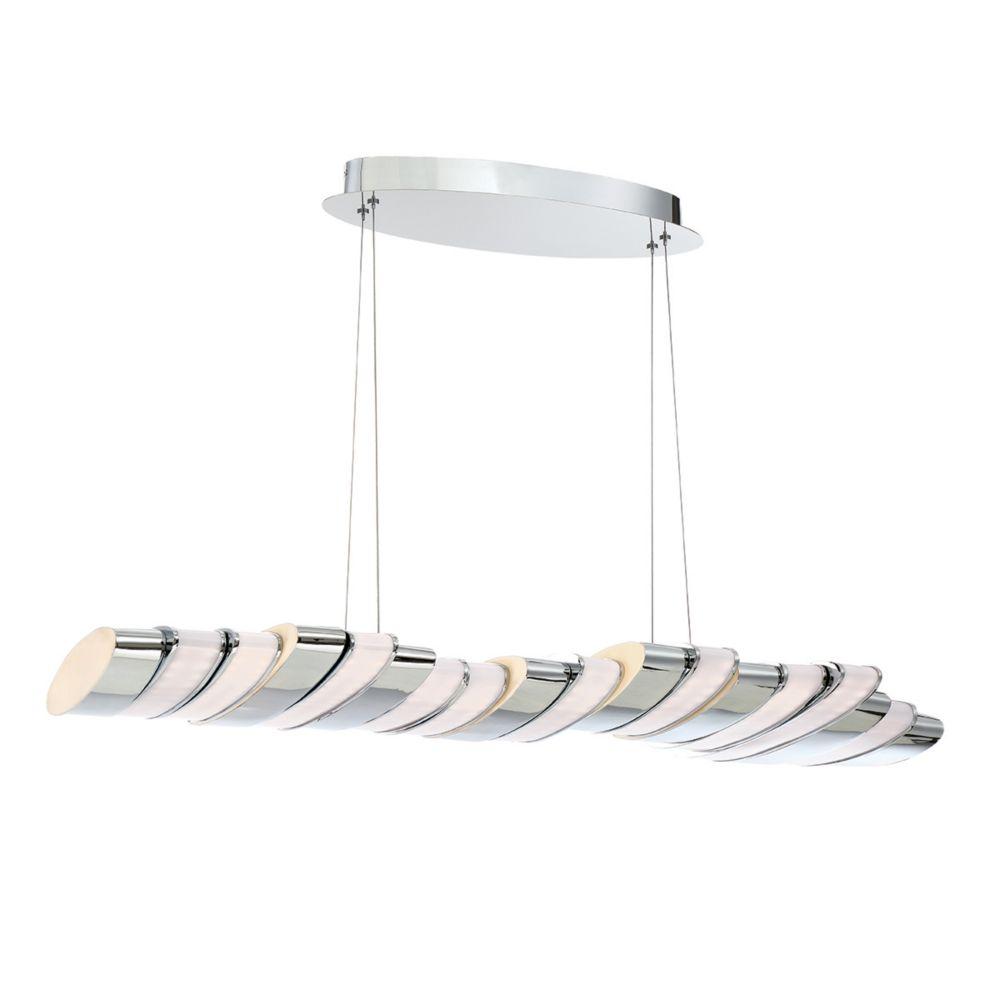 Collection Gabriel, luminaire suspendu chrome à 17ampoules DEL