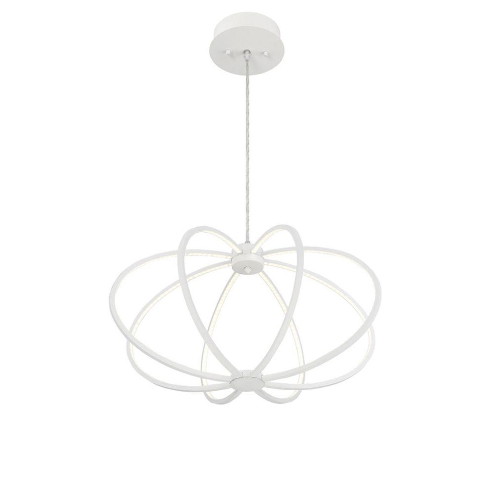 Leggero Collection, 8-Light LED White Pendant