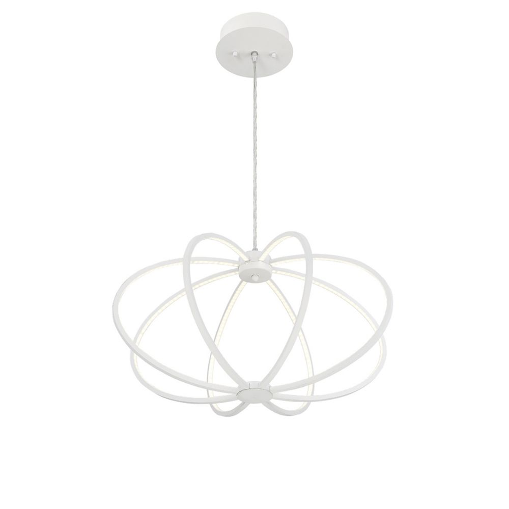 Leggero Collection, 8-Light LED White Pendant