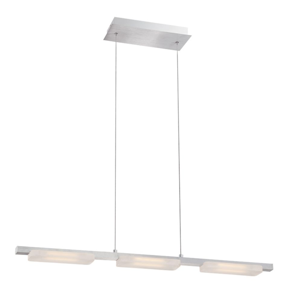 Miles Collection, 3-Light Linear LED Aluminum Pendant