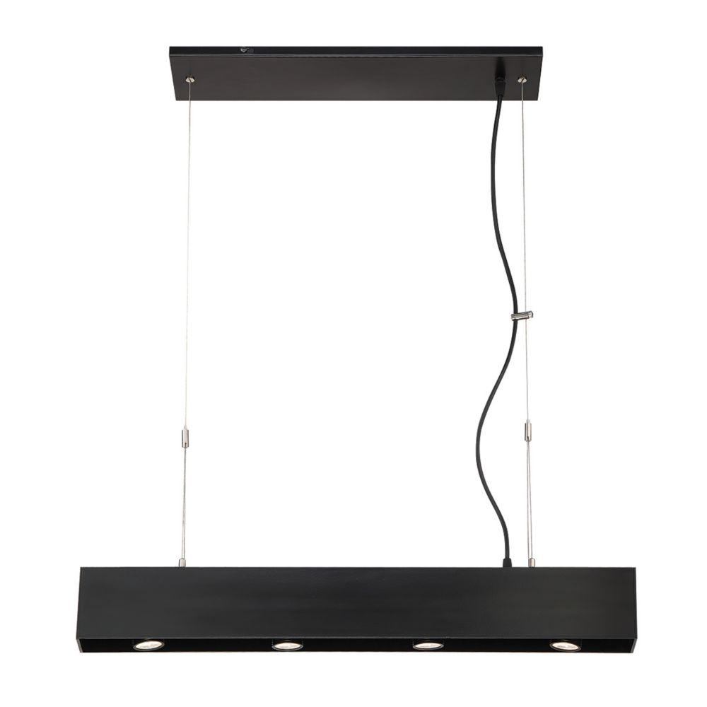 Niss Collection, 4-Light LED Black Pendant