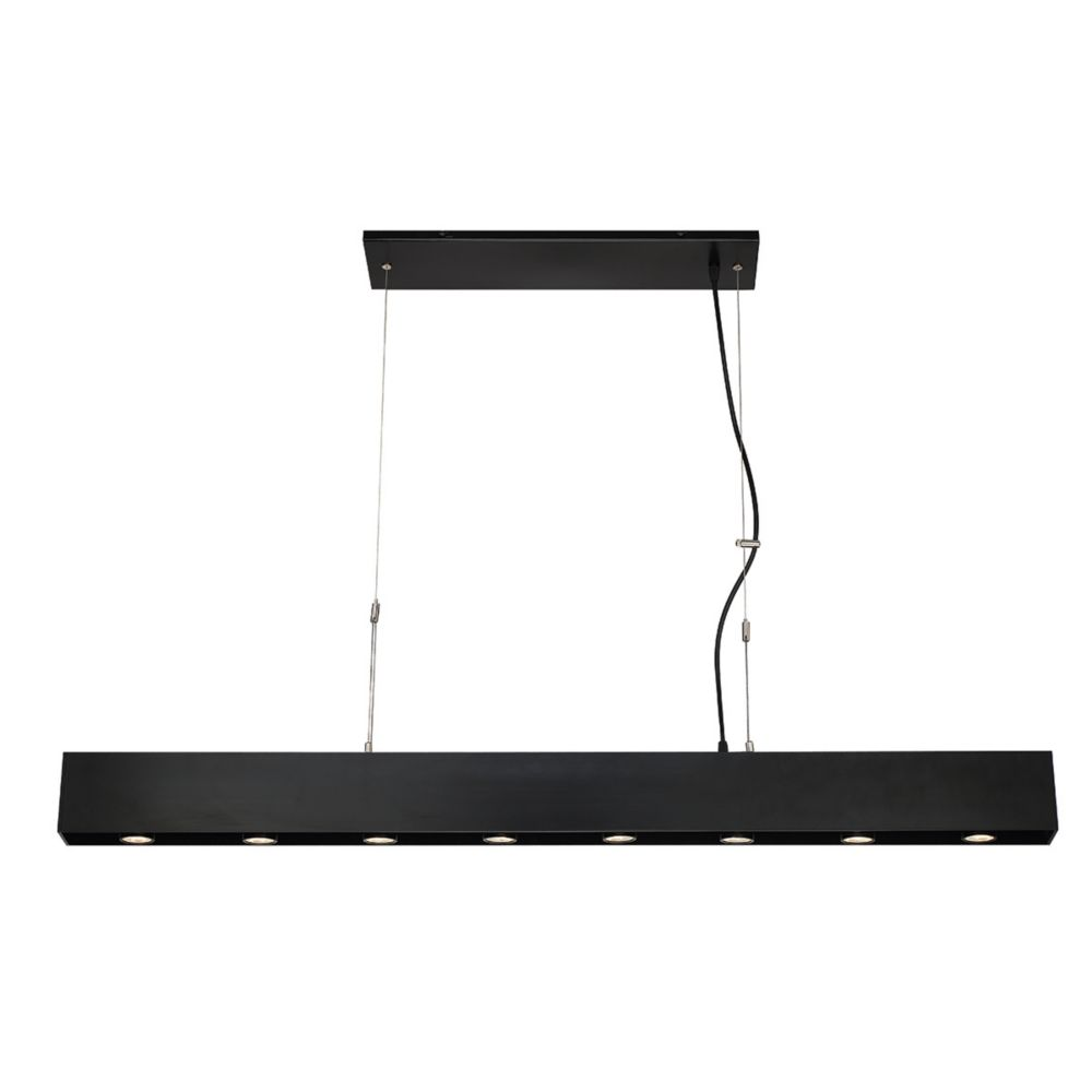 Niss Collection, 8-Light LED Black Pendant