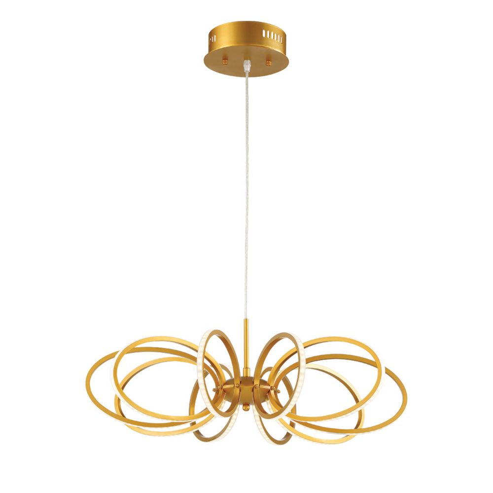 Collection Tela, luminaire suspendu doré à 10ampoules DEL