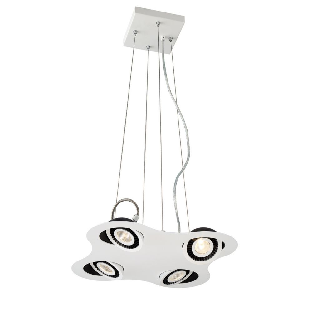 Vision Collection, 4-Light LED White Pendant