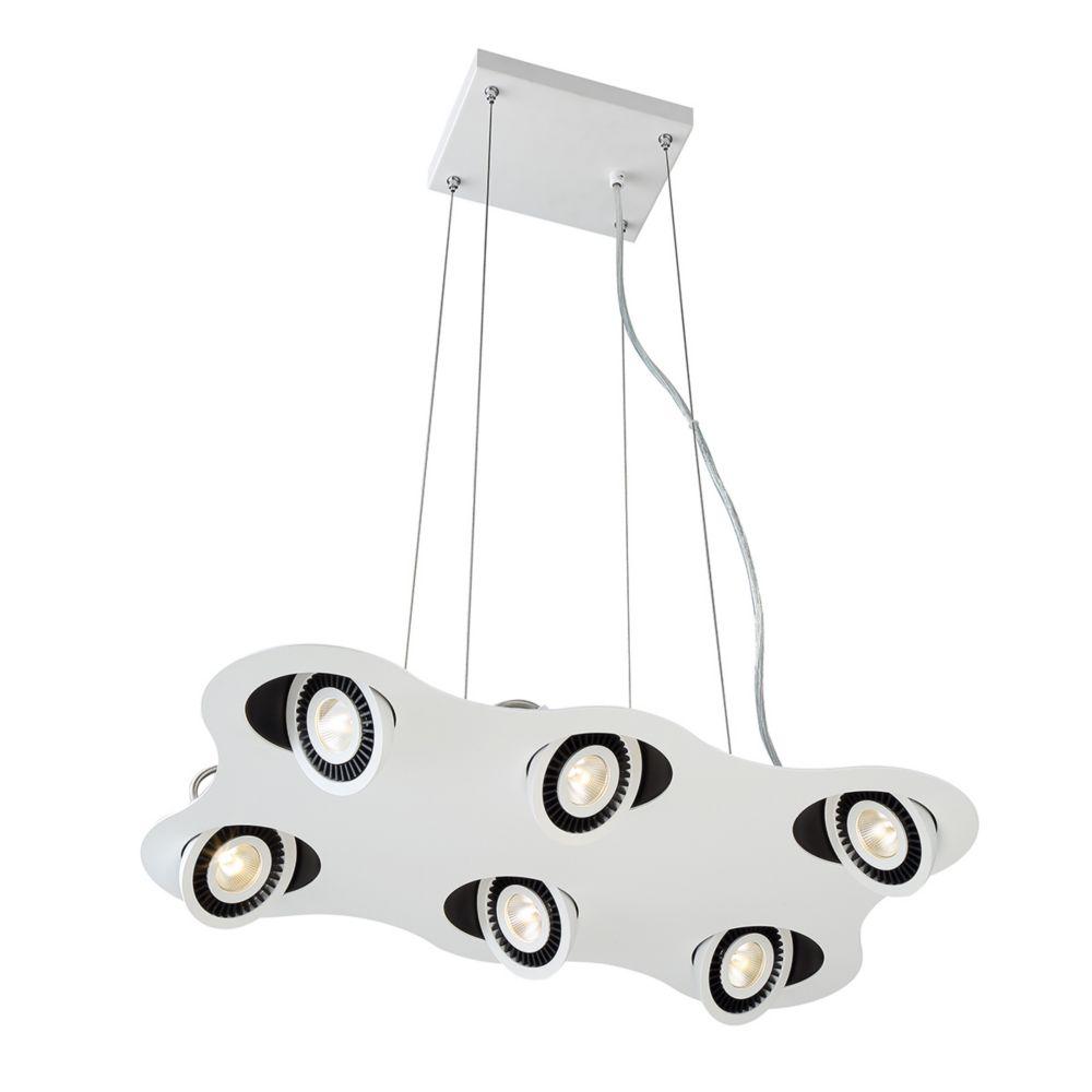 Vision Collection, 6-Light LED White Pendant
