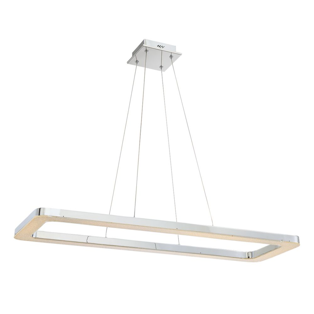 Zatina Collection, 1-Light LED Rectangular Chrome Pendant
