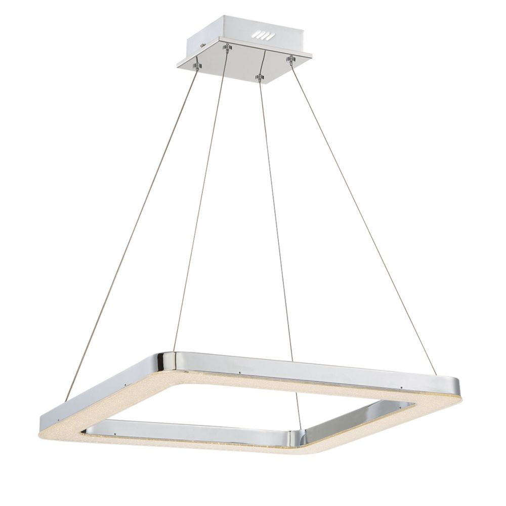 Zatina Collection, 1-Light LED Square Chrome Pendant