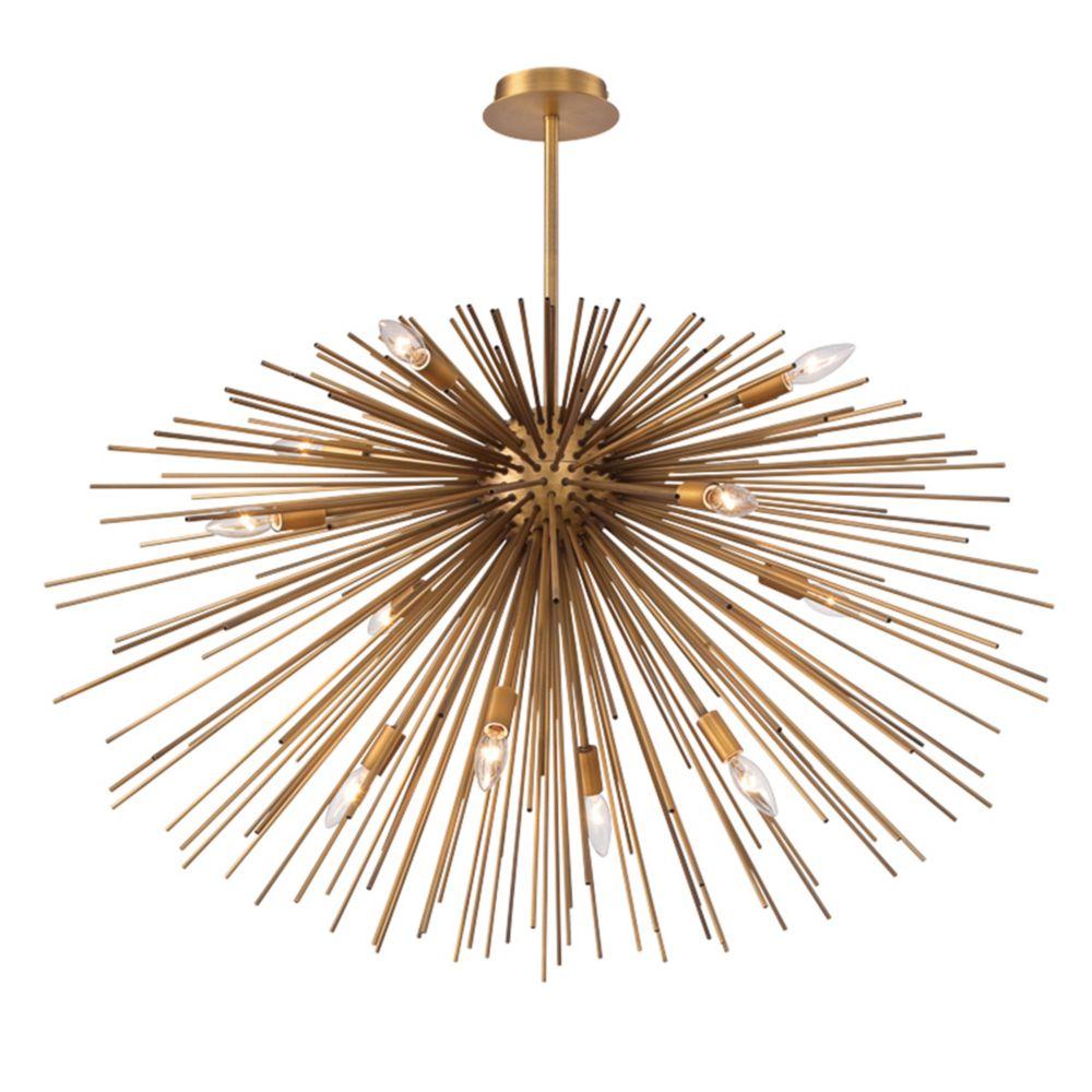Bridget Collection, 12-Light Satin Gold Pendant