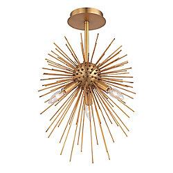 Bridget Collection, 3-Light Satin Gold Pendant