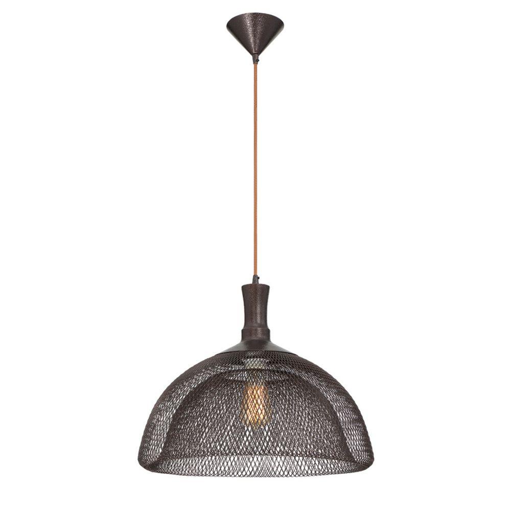 Collection Filo, grand luminaire suspendu bronze à 1ampoule