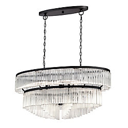 Ziccardi Collection, 10-Light Oval Bronze Chandelier