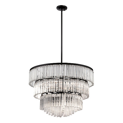 Ziccardi Collection, 9-Light Bronze Chandelier