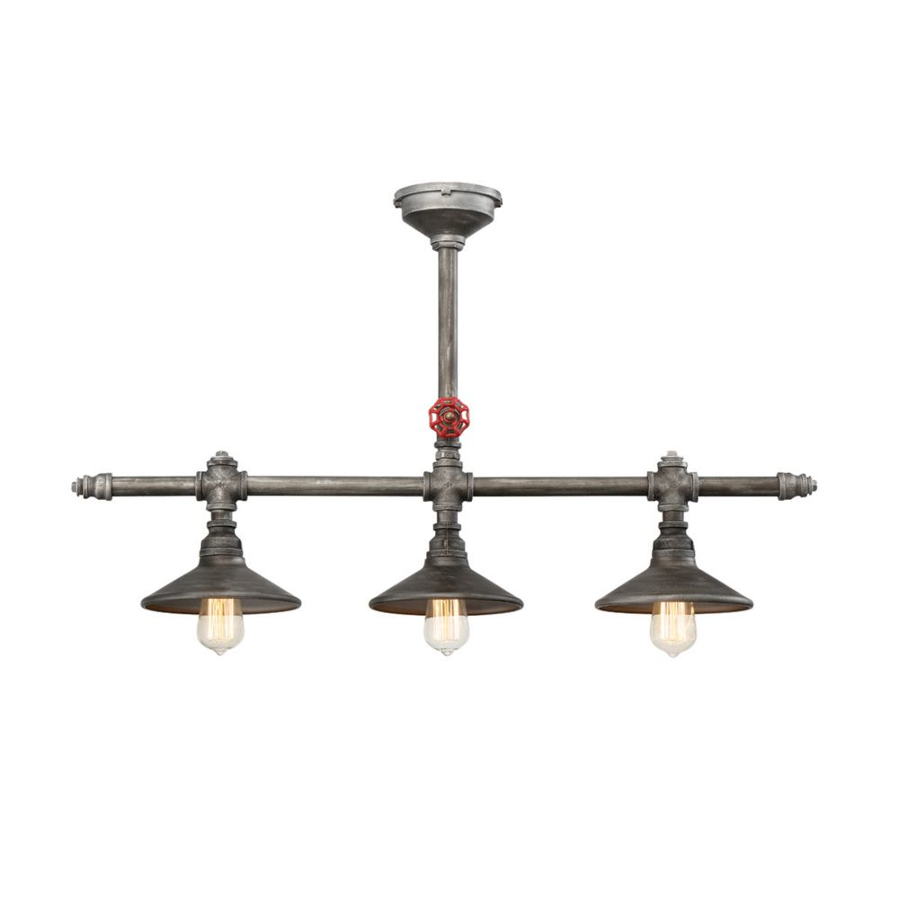 Zinco Collection, 3-Light Aged Silver Chandelier