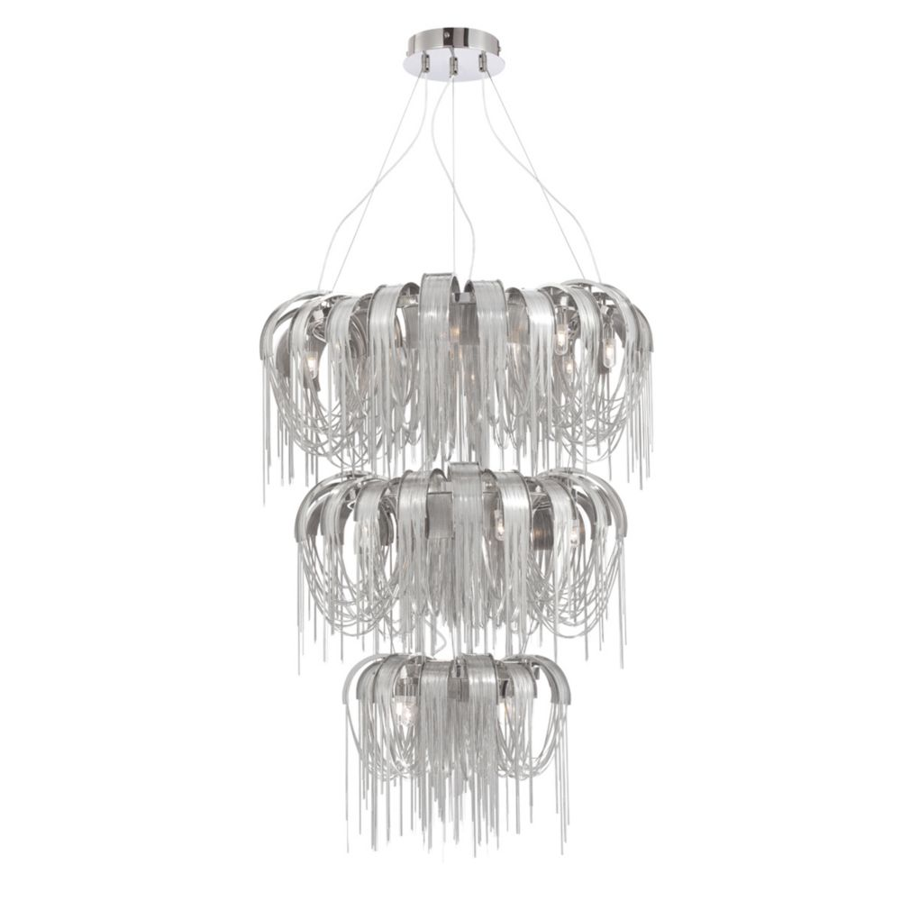 Avenue Collection, 17-Light Nickel Chandelier