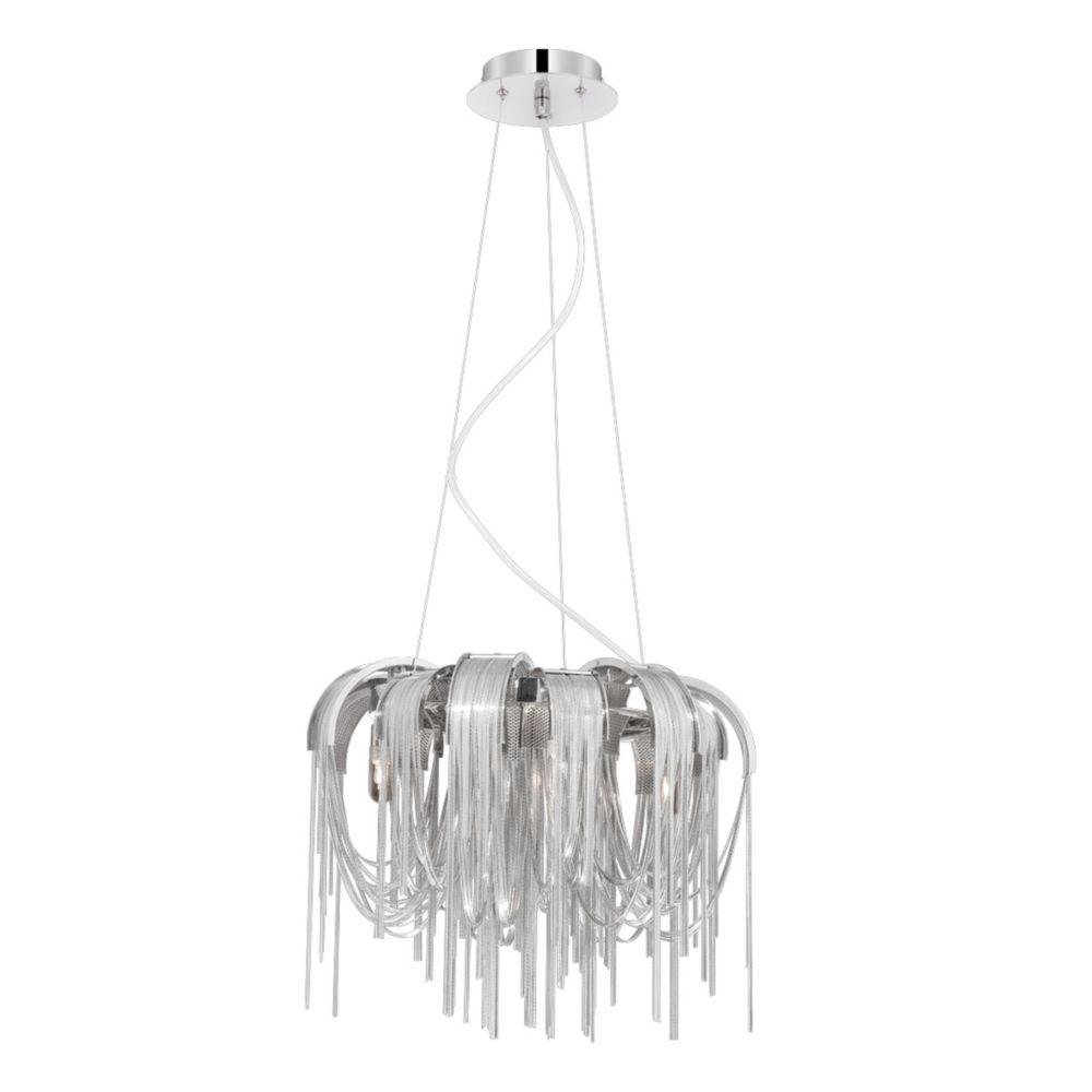 Avenue Collection, 4-Light Nickel Chandelier