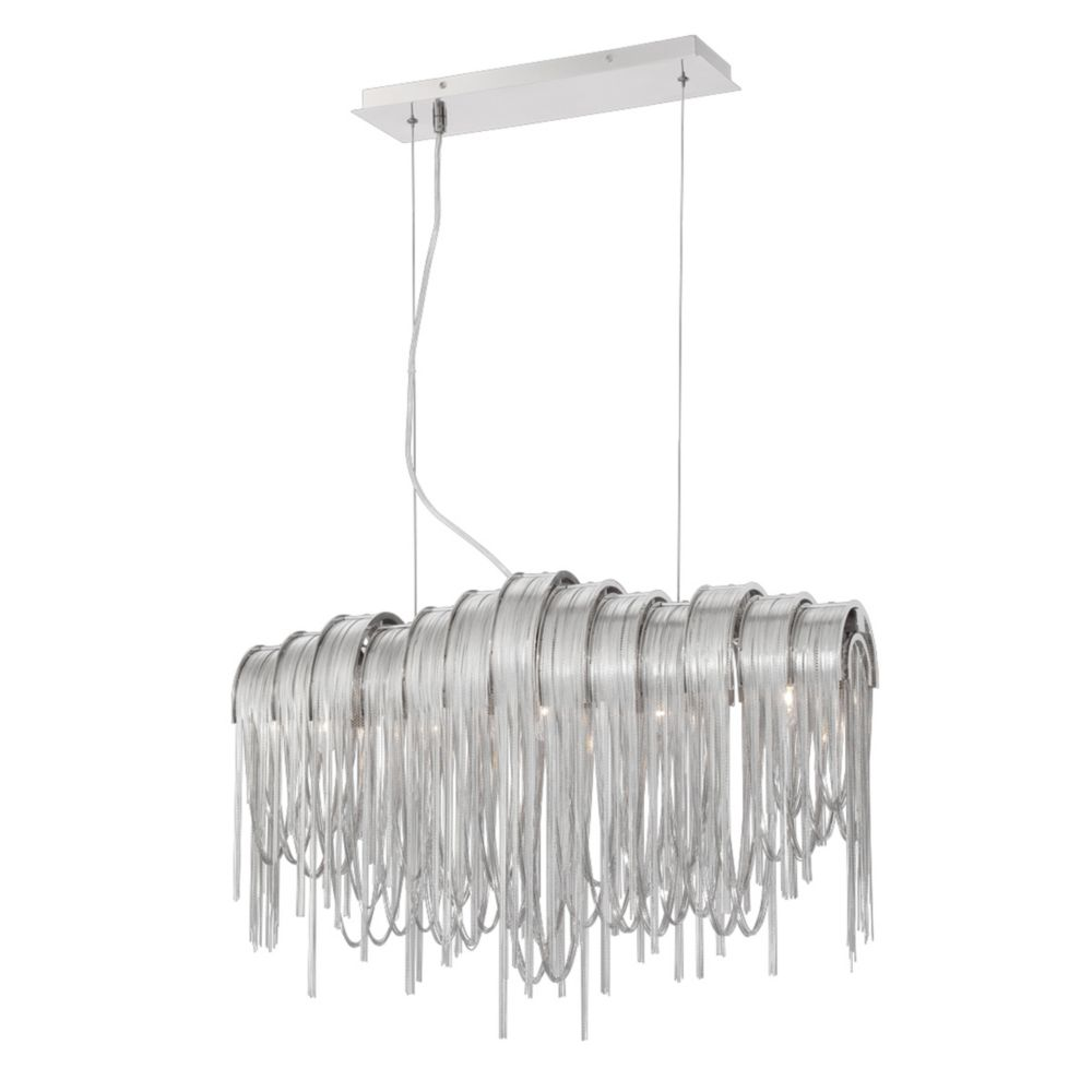 Avenue Collection, 5-Light Nickel Chandelier