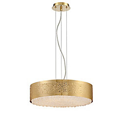 Cara Collection, 6-Light Gold Chandelier