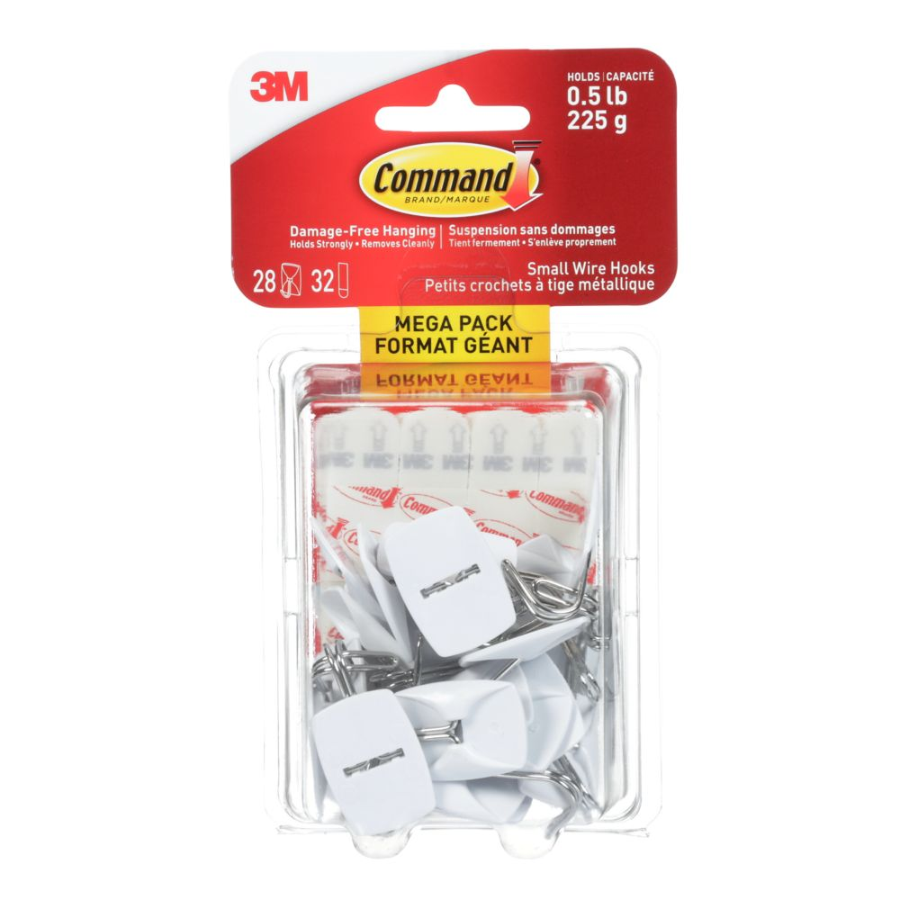 Command Small Wire Hook Mega Pack (28-Pack)