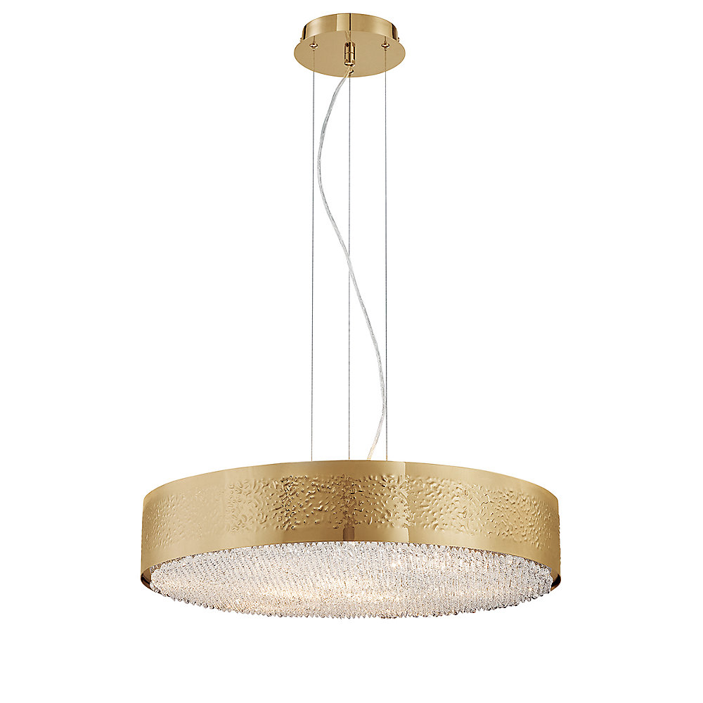 Cara Collection, 9-Light Gold Chandelier