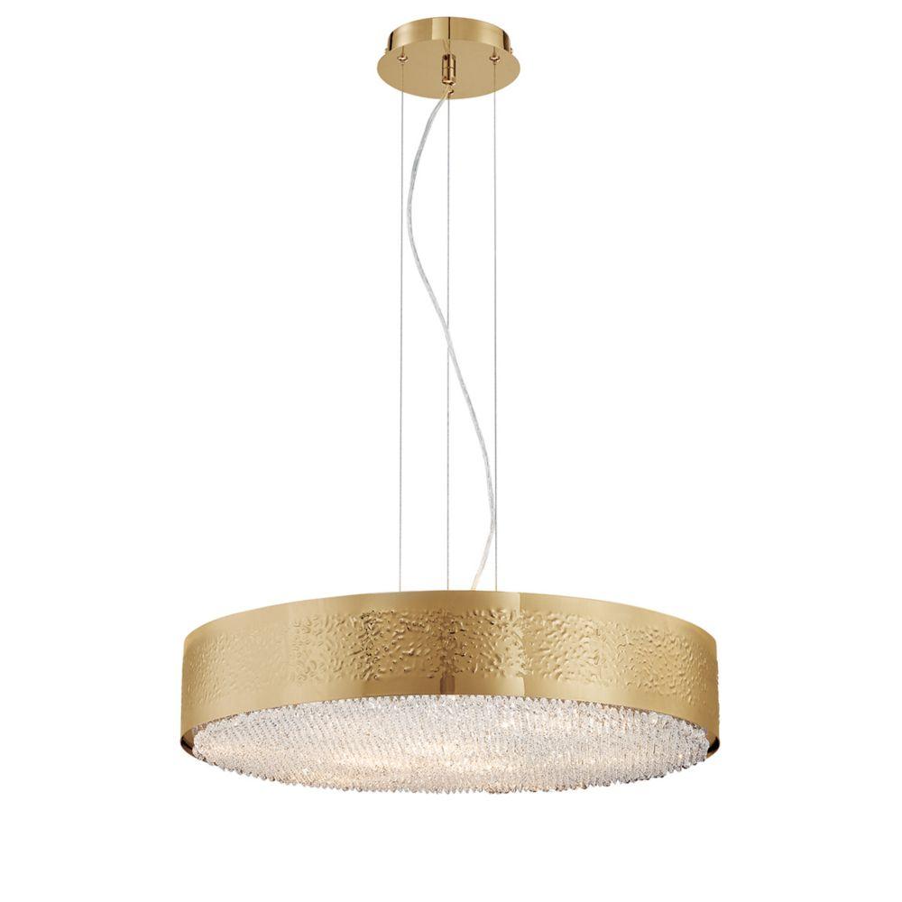 Eurofase Cara Collection, 9-Light Gold Chandelier