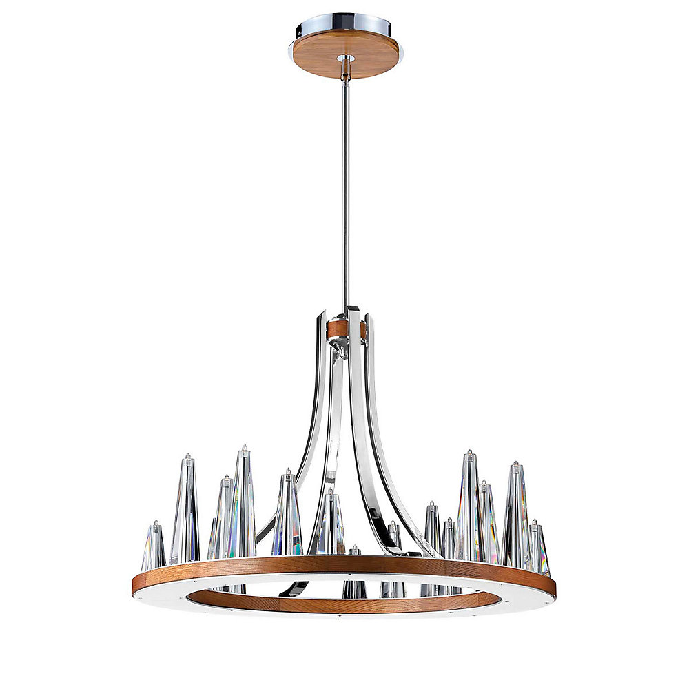 Skyline Collection, 20-Light Chrome and Clear Chandelier