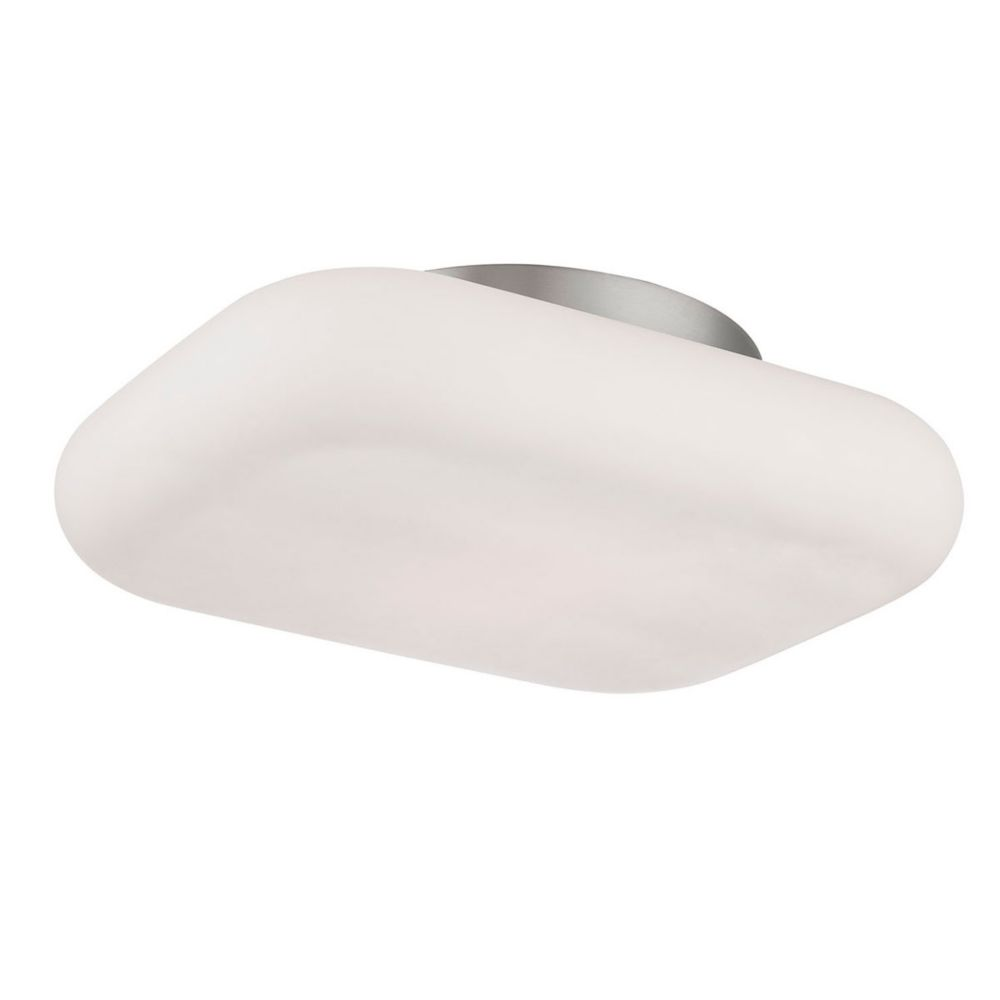 Alma Collection, 2-Light LED Satin Nickel Flushmount