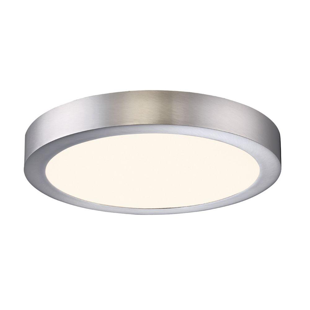 Brant Collection, 1-Light LED Satin Nickel Flushmount
