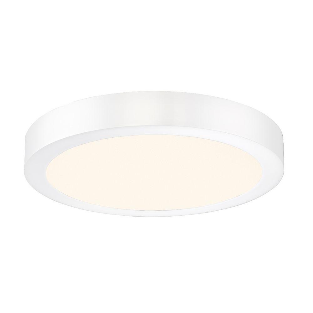 Brant Collection, 1-Light LED White Flushmount