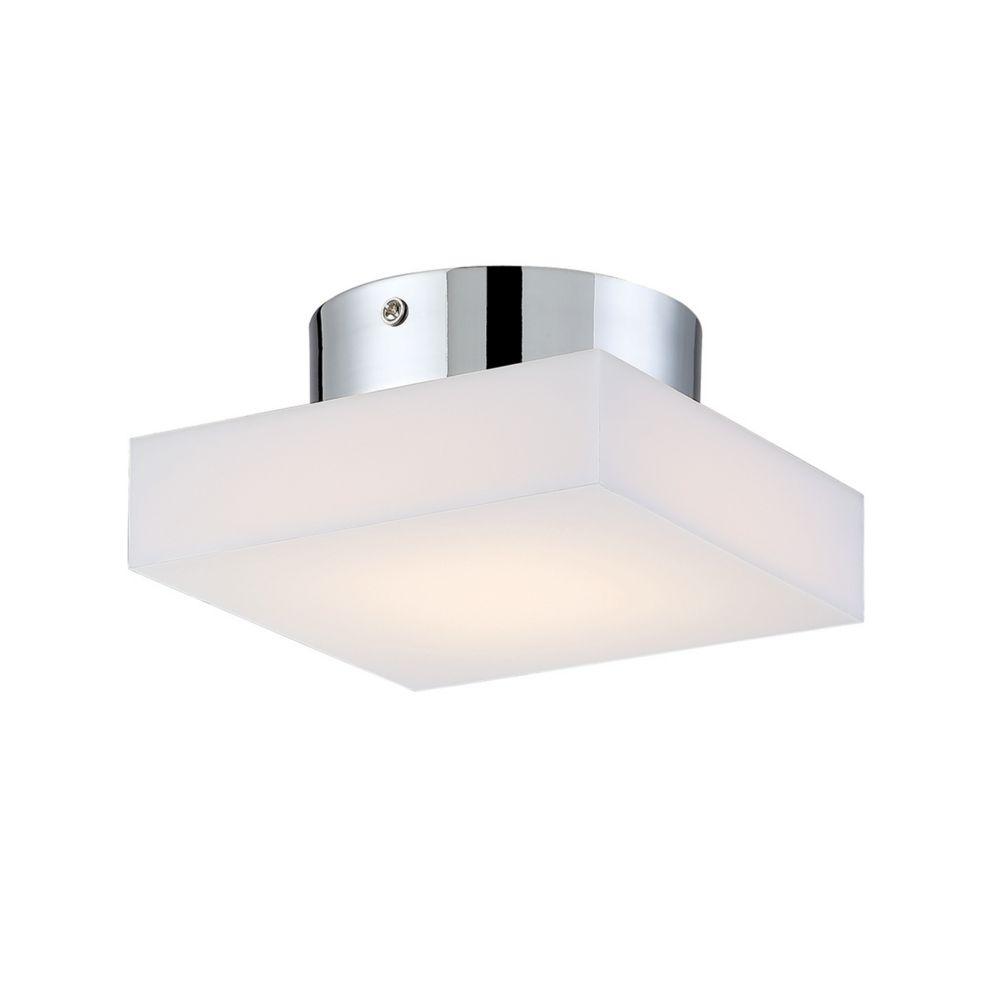 Evolve Collection, 1-Light Small LED Chrome Flushmount