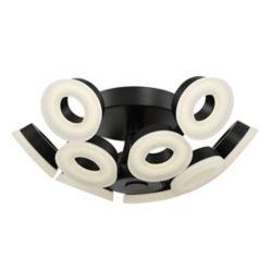 Eurofase Glendale Collection, 10-Light LED Black Flushmount