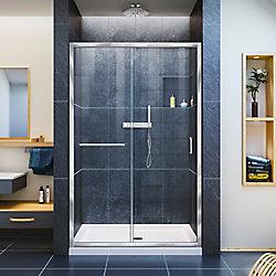 DreamLine Infinity-Z 44-inch to 48-inch x 72-inch Semi-Framed Sliding Shower Door in Chrome